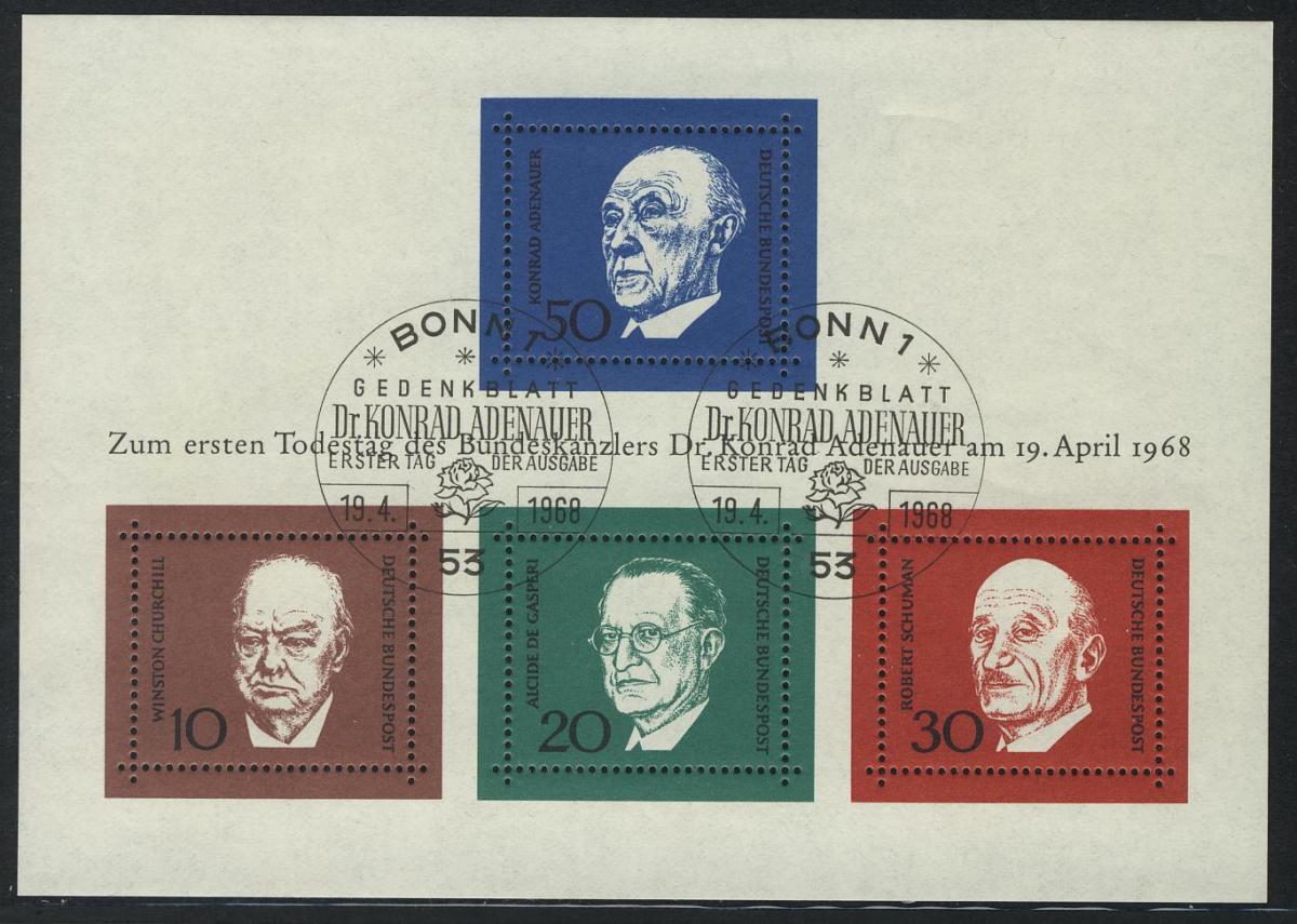 Block 4 Adenauer 1968, ESSt Bonn 0