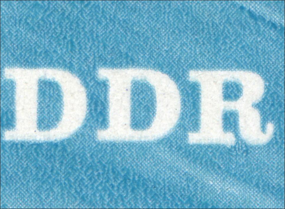 2163 Brücke 10 Pf: unten verdickes R in DDR, Feld 15 ** 0
