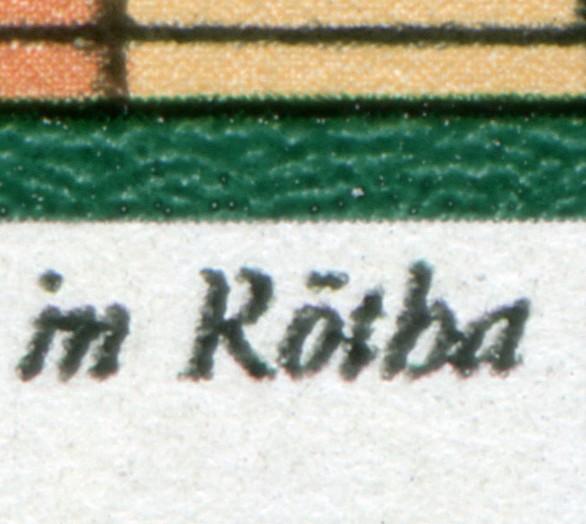 2111 Silbermann-Orgel 10 Pf. mit PLF: R in Rötha oben gebrochen, Feld 31 ** 0