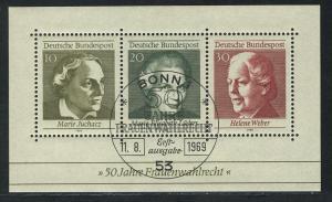 Block 5 Frauenwahlrecht 1969 mit ESSt Bonn 11.8.1969