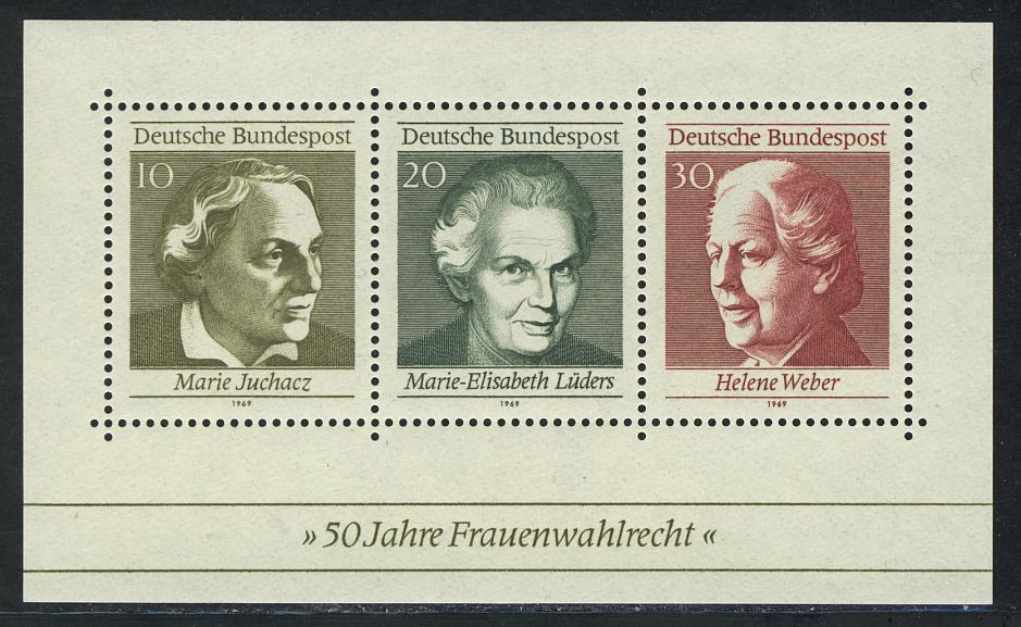 Block 5 Frauenwahlrecht 1969, postfrisch ** 0