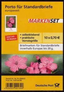 FB 8 Kartäusernelke 2010, Folienblatt 10x2716, **
