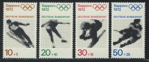 684-687 Einzelmarken aus Block 6 Olympiade München und Sapporo, Satz **