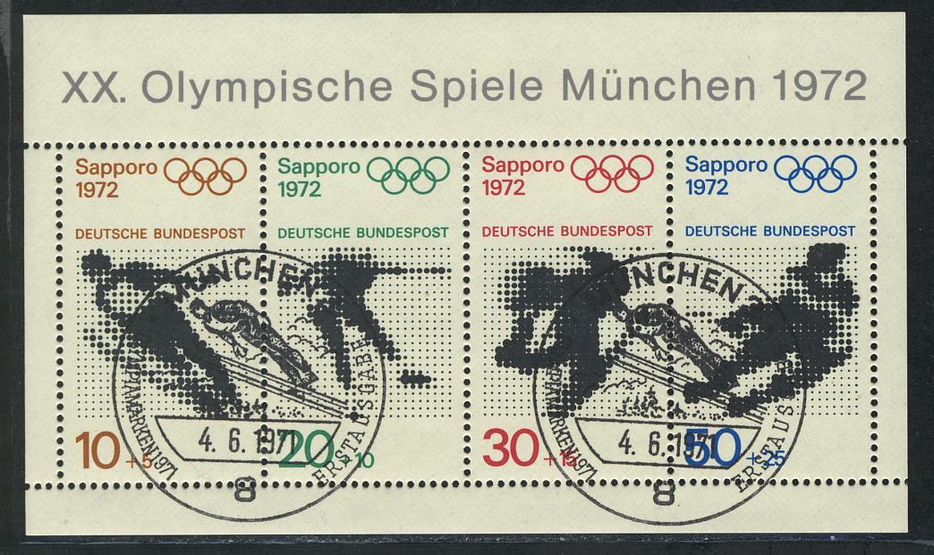 Block 6 Olympische Spiele München und Sapporo, ESSt München 4.6.1971 0