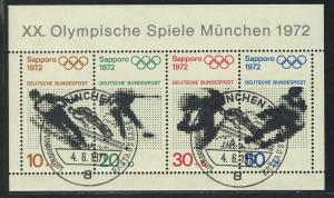 Block 6 Olympische Spiele München und Sapporo, ESSt München 4.6.1971