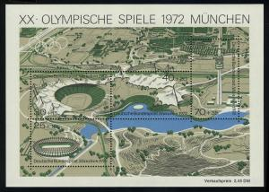 Block 7 Olympiapark - Olympia-Stadion 1972, postfrisch **