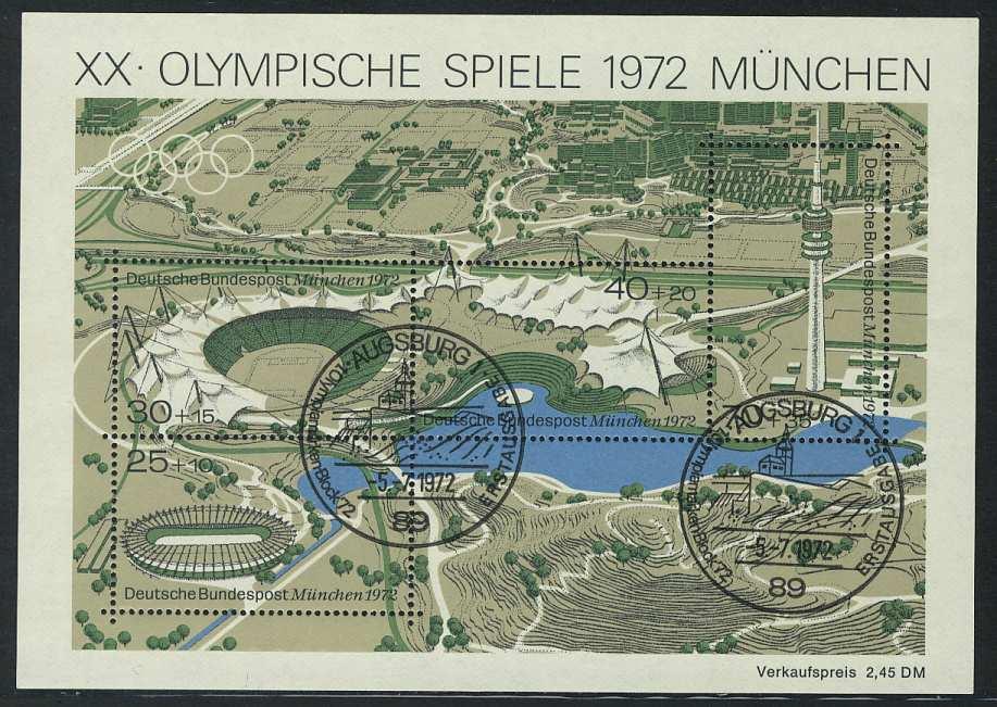 Block 7 Olympiapark 1972 mit ESSt Augsburg 5.7.1972 0