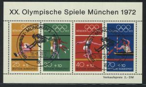 Block 8 Olympiade München - Sportarten 1972 mit ESSt München