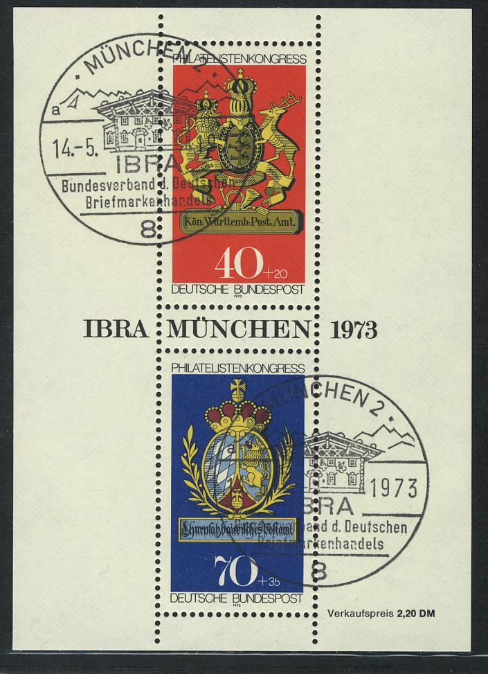 Block 9 IBRA 1973, SSt München APHV 14.5.73 0