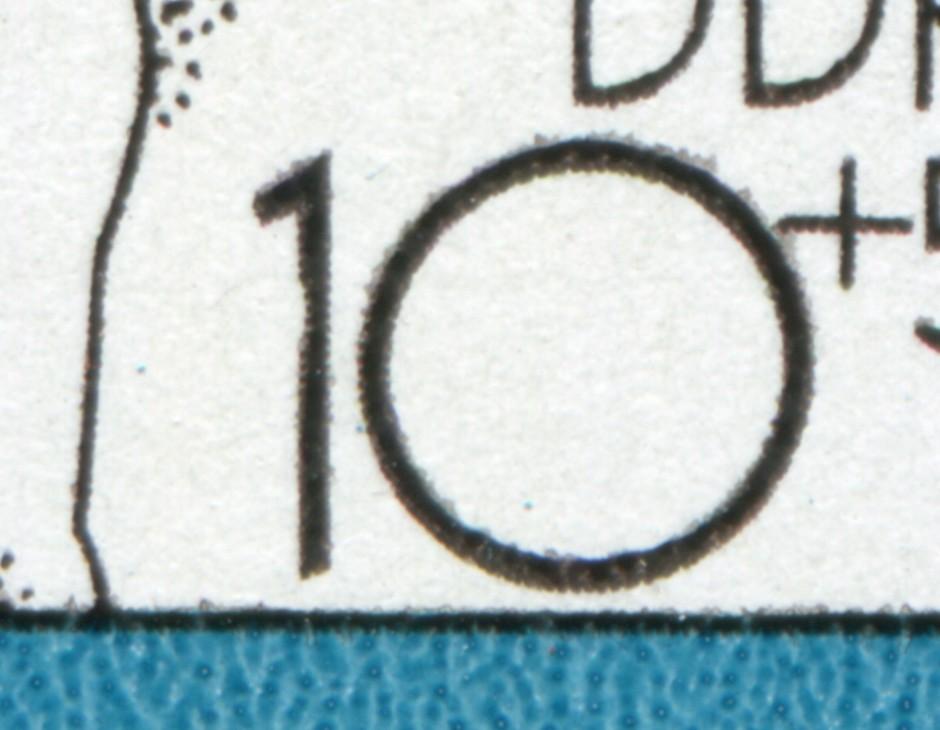 2617 Spartakiade 10 Pf: Kerbe links oben in der 1 der 10, Feld 25, **  0