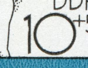 2617 Spartakiade 10 Pf: Kerbe links oben in der 1 der 10, Feld 25, **
