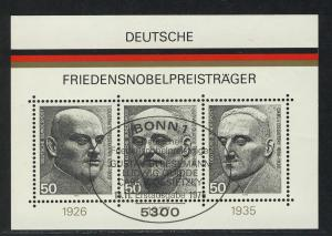 Block 11 Friedensnobelpreisträger 1975 mit ESSt Bonn 14.11.1975