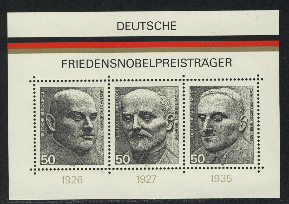 Block 11 Friedensnobelpreisträger 1975, postfrisch 0