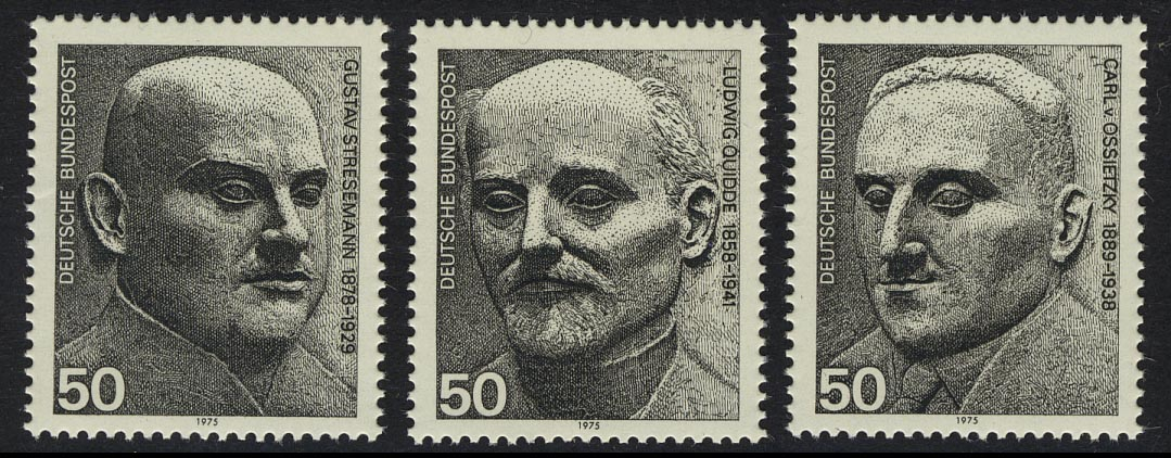 871-873 Einzelmarken aus Block 11 Nobelpreisträger, Satz ** 0