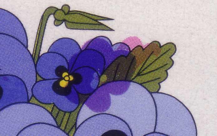 907 Wofa 70 Pf, starke Passerverschiebungen der Farben Rosa und Lila, ** 0