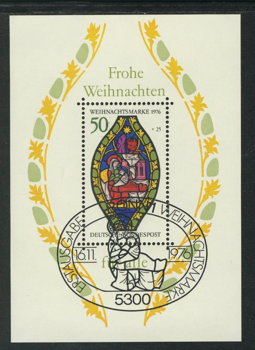 Block 13 Weihnachten - Marienfenster 1976, ESSt Bonn 16.11.1976 0