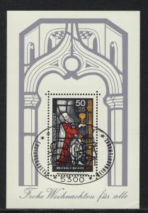 Block 15 Weihnachten - Kirchenfenster 1977 mit ESSt Bonn 10.11.1977