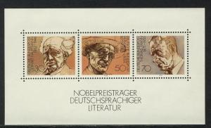 Block 16 Nobelpreisträger für Literatur 1978, postfrisch