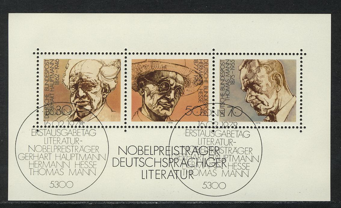 Block 16 Nobelpreisträger für Literatur 1978, ESSt Bonn 0