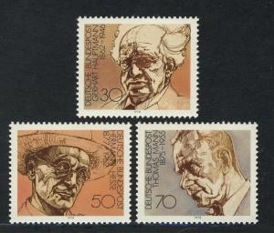 959-961 Einzelmarken aus Block 16 Nobelpreisträger für Literatur, Satz **