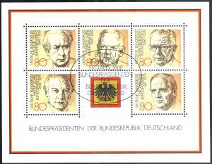 Block 18 Bundespräsidenten 1982 mit ESSt Bonn 10.11.1982