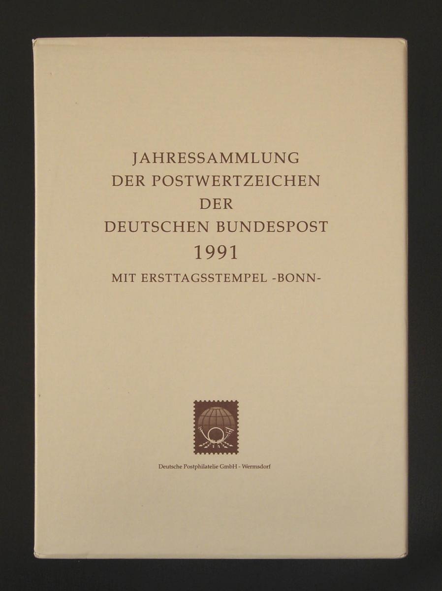 Jahressammlung Bundesrepublik von 1991, mit Ersttagssonderstempel 0