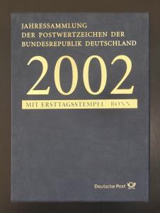 Jahressammlung Bund 2002 mit Ersttagssonderstempel