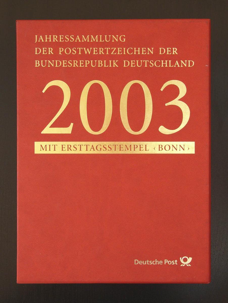 Jahressammlung Bund 2003 mit Ersttagssonderstempel 0