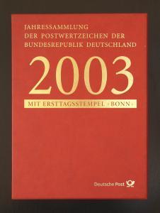 Jahressammlung Bund 2003 mit Ersttagssonderstempel