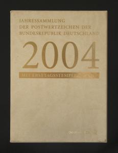 Jahressammlung Bund 2004 mit Ersttagssonderstempel