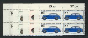 1123-1126 Jugend Kraftfahrzeuge 1982, E-Vbl o.l. Satz **
