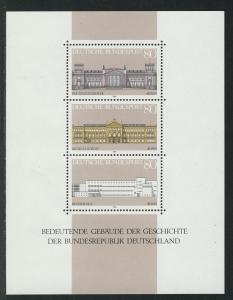 Block 20 Demokratie - Bedeutende Gebäude 1986, postfrisch