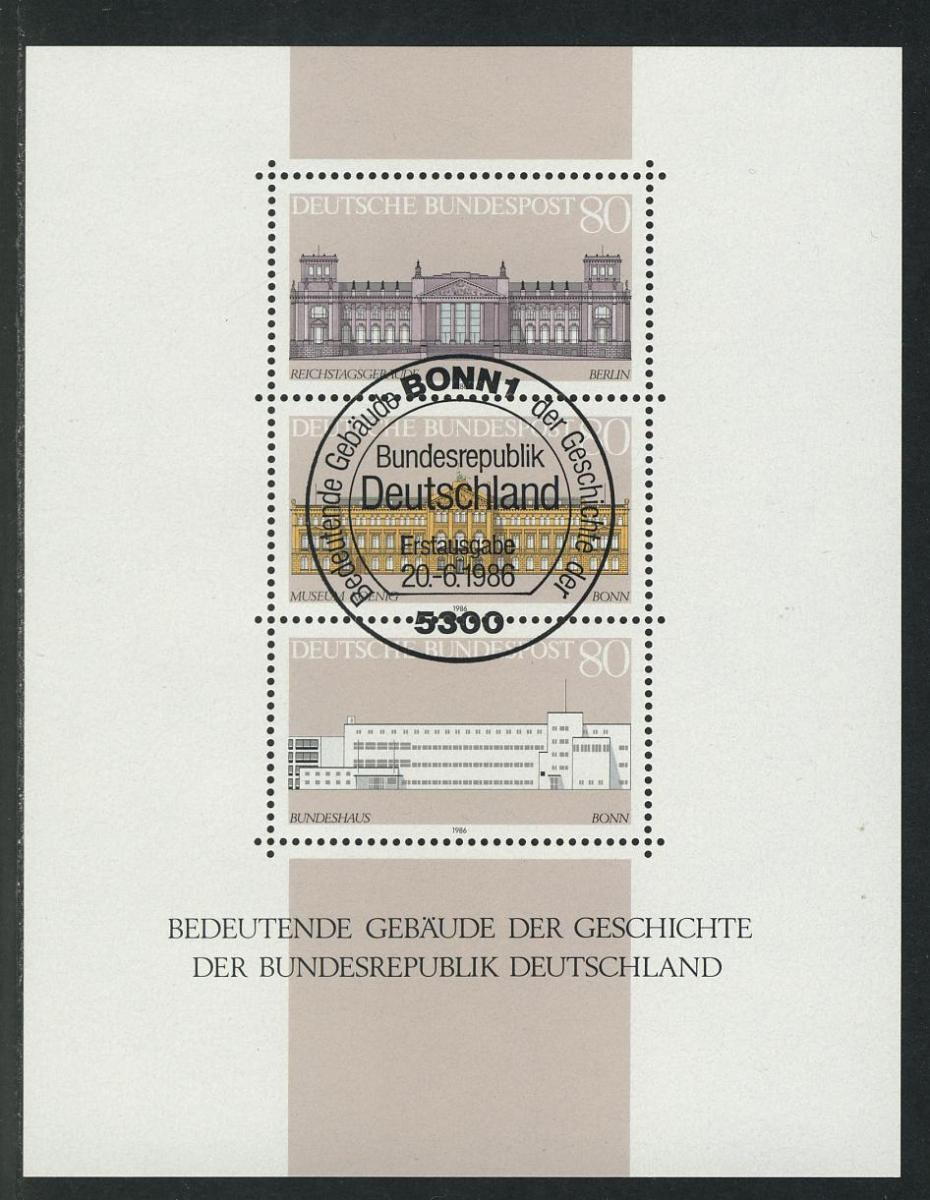 Block 20 Demokratie - Bedeutende Gebäude 1986, ESSt Bonn 0