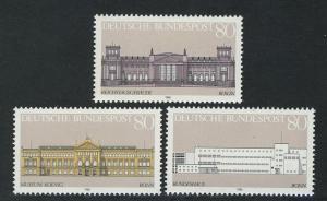 1287-1289 Einzelmarken aus Block 20 Demokratie - Gebäude, 3 Werte, Satz **