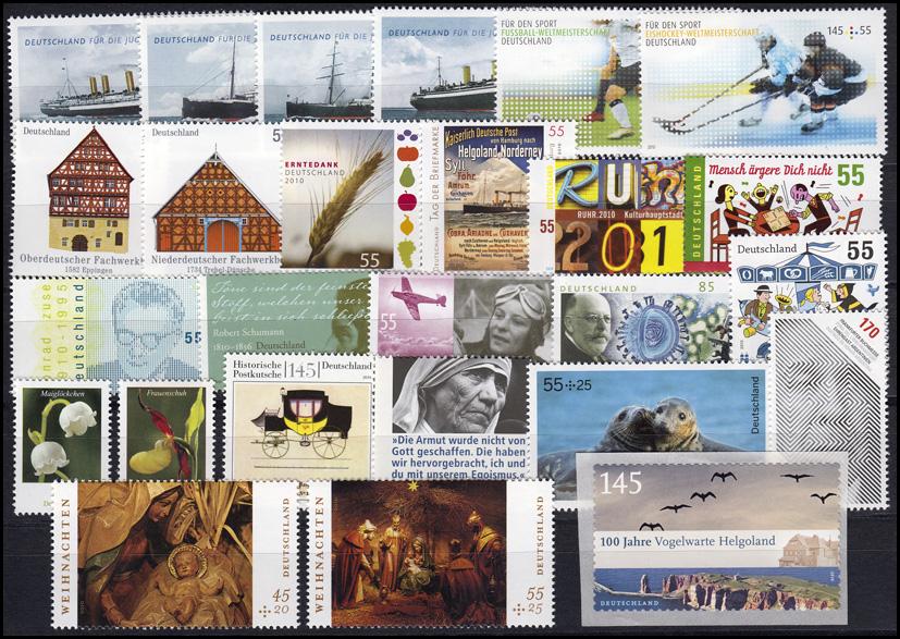 2768-2834 Deutschland Bund-Jahrgang 2010 komplett, postfrisch ** 1
