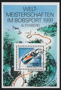 Block 23 Bob-WM Altenberg 1991 mit ESSt Bonn 8.1.1991