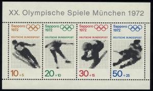 Block 6 Olympische Spiele München und Sapporo, postfrisch **