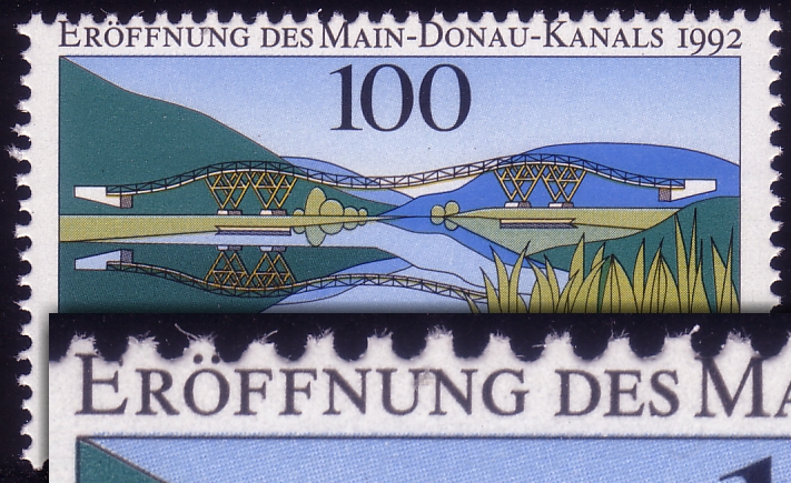 1630 Main-Donau-Kanal - Verzähnung oben in der Inschrift ** 0