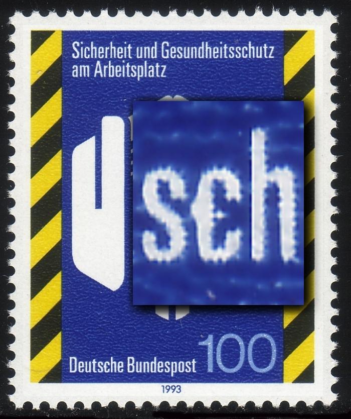 1649 Arbeitsschutz mit PLF verdicktes c in Deutsche, Feld 30, ** 0