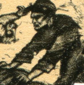 1656 Pariser Kommune 20 Pf. mit PLF weißer Fleck im Arm, Feld 19, ** postfrisch