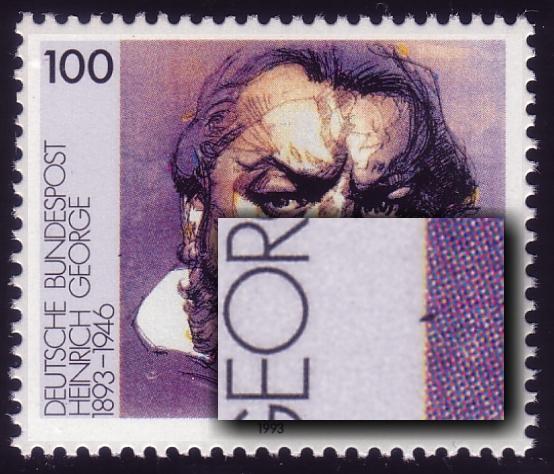 1689 George: schwarzer Strich am linken Rand, Feld 31 ** 0