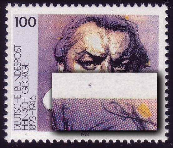 1689 George: zwei kurze Striche am Bildrand oben, Feld 16 ** 0
