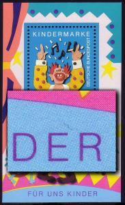 Block 27 Für uns Kinder 1993 mit PLF Strich über ER im Blockrand **