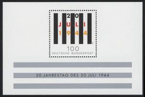 Block 29 Jahrestag Attentat 20. Juli 1944, postfrisch