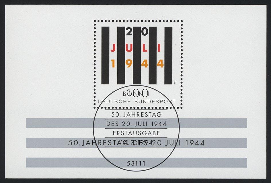 Block 29 Jahrestag Attentat 20. Juli 1944, ESSt Bonn 0