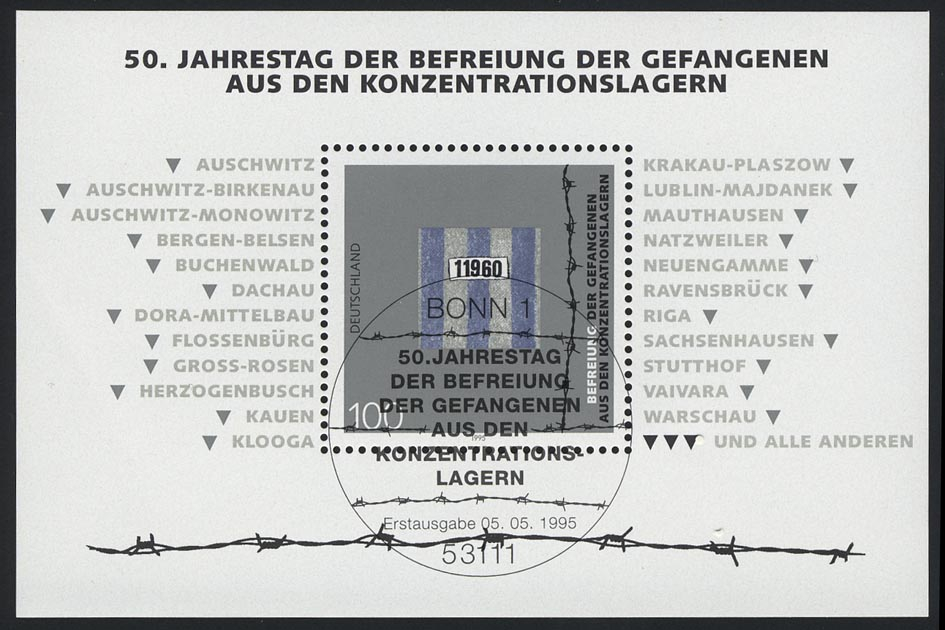 Block 32 Jubiläum 50 Jahre Gefangenenbefreiung 1995, ESSt Bonn 5.5.1995 0