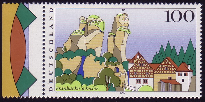 1807 Fränkische Schweiz: Passerverschiebung olivgrün / hellgrün ** 0