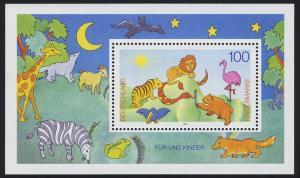Block 34 Für und Kinder - Tierversammlung 1995, postfrisch