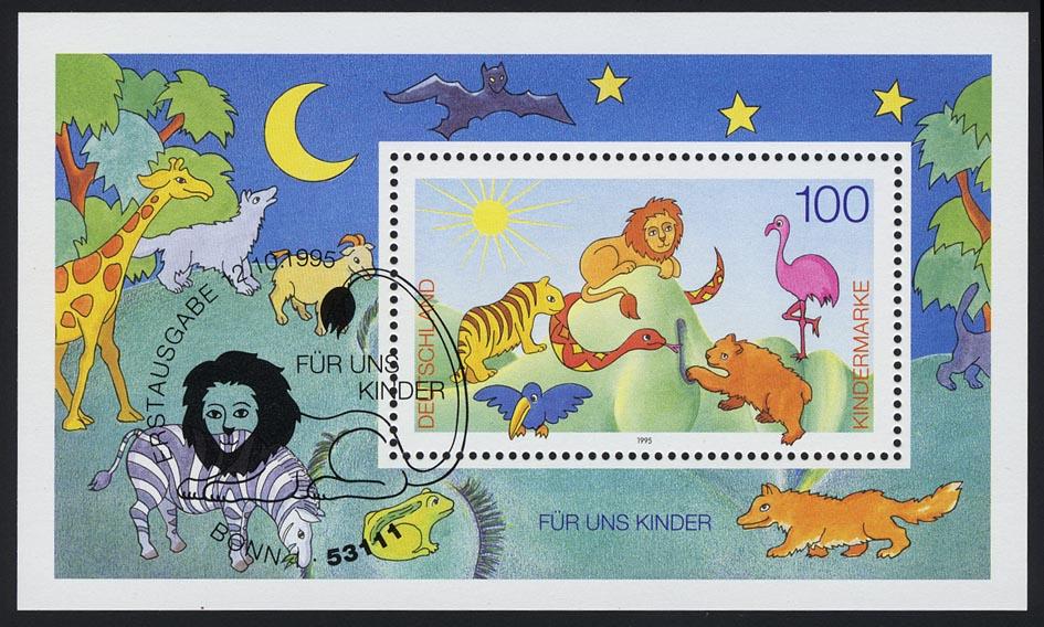 Block 34 Für und Kinder - Tierversammlung 1995 mit ESSt Bonn 12.10.1995 0