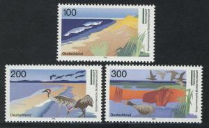 1871-1873 Einzelmarken aus Block 36 Boddenlandschaft, 3 Werte, Satz **